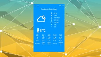 cumulus Qt weather app on Ubuntu