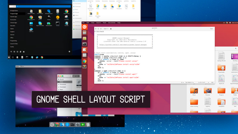 This Script Can Make GNOME Shell Look like Windows, Mac, or