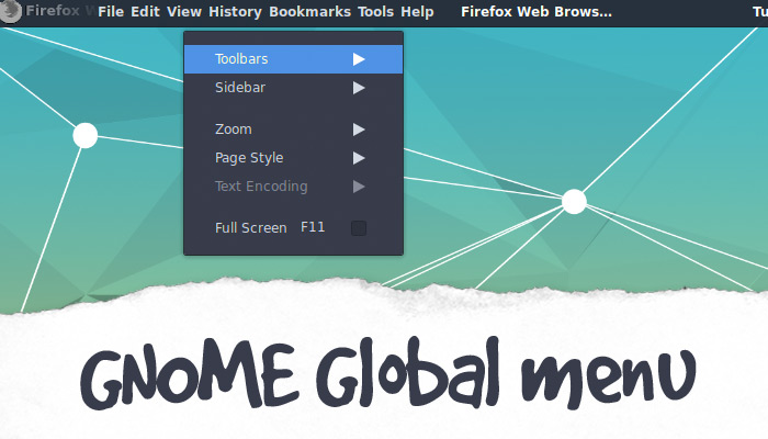 GNOME Global Menu Extension 'Discontinued For the Moment