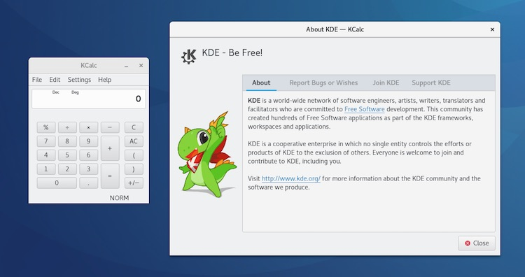 Kcalc Qt app with adwaita gtk theme