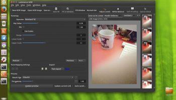 a screenshot of luminance HDR on Ubuntu