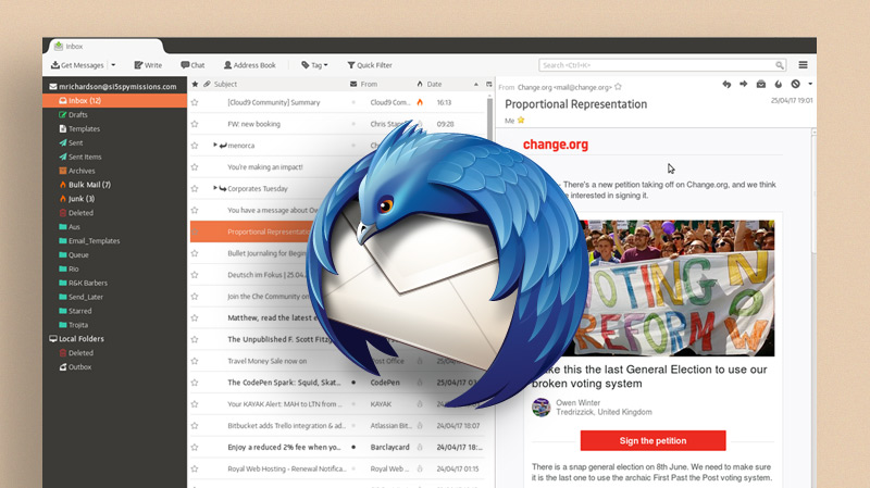 That Slick Thunderbird Mockup? It's Now a Real Theme