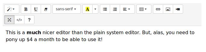 An Alternative Standard Notes Editor