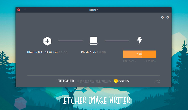 etcher image writer for usb and sdcards