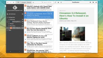 feedreader installed on ubuntu as a flatpack app