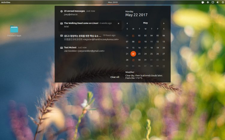 gmail notifications on GNOME Shell