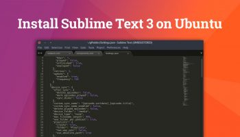 install sublime text 3 on ubuntu