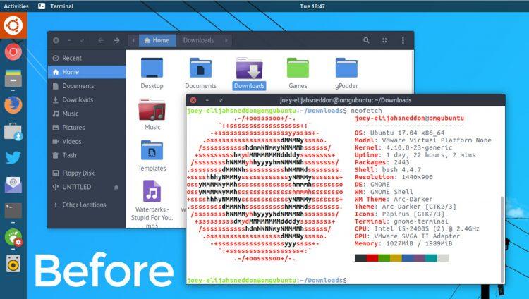 La herramienta GNOME-Tweak-Tool ahora permite mover el menú de aplicaciones fuera de la barra superior