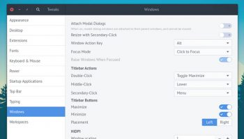 GNOME Tweak Tool on UBuntu