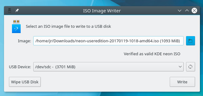 how to write iso image to usb