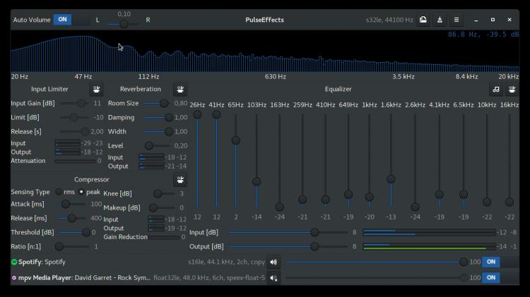 PulseEffects es una potente aplicación de efectos y ecualizador de audio GTK para GNU/Linux