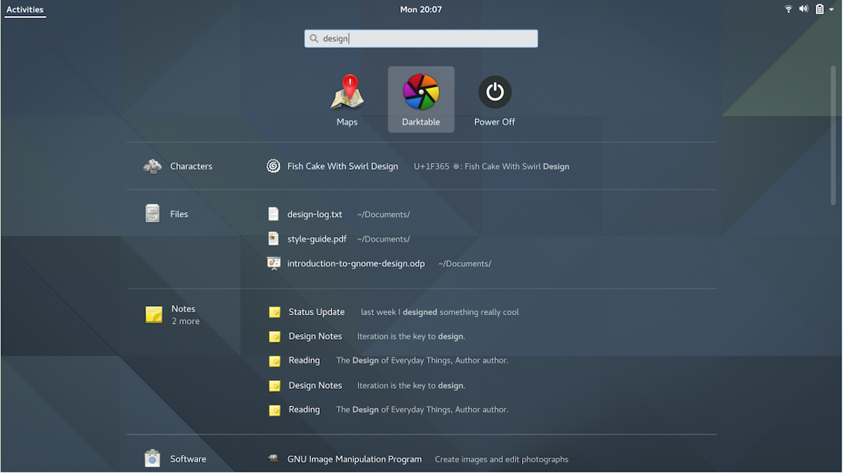 GNOME Shell Is Finally Improving its Search Results Page