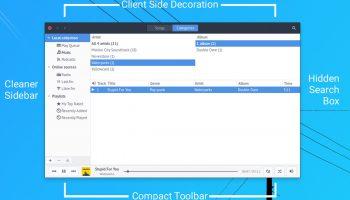 Rhythmbox Alternative Toolbar Overview