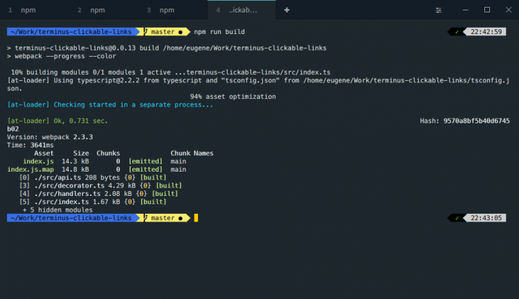 a screenshot of terminus on Linux