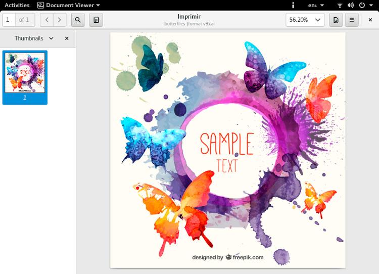 Evince 3.26 permitirá ver los archivos de Adobe Illustrator