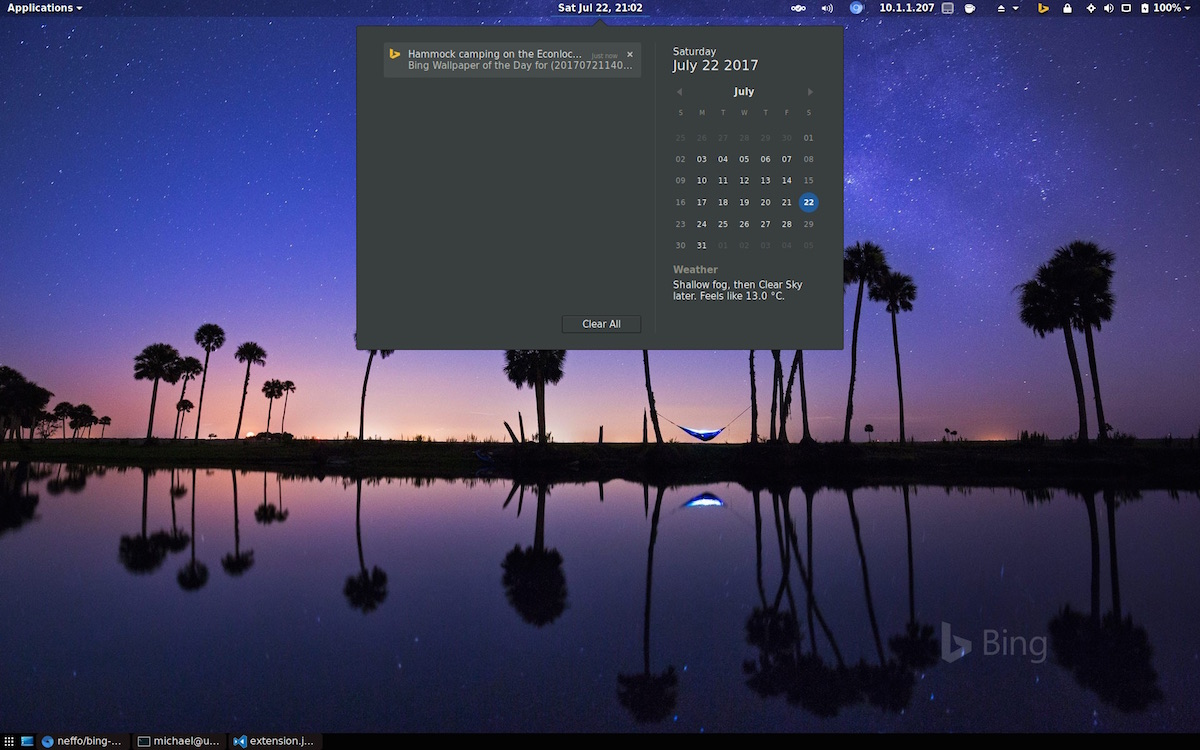 Bing Wallpaper Extension For Gnome Shell Desktops Omg Ubuntu