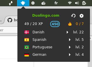 Duolingo Status gnome extension
