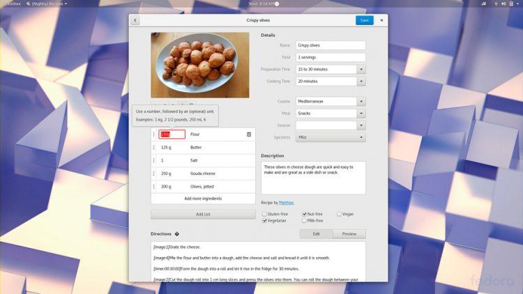 Recetas de GNOME 3.26 prepara mejoras
