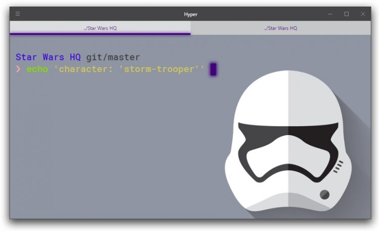 hyper terminal star wars theme stormtrooper