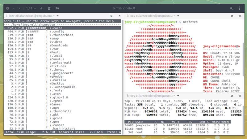 tilix emulator on ubuntu