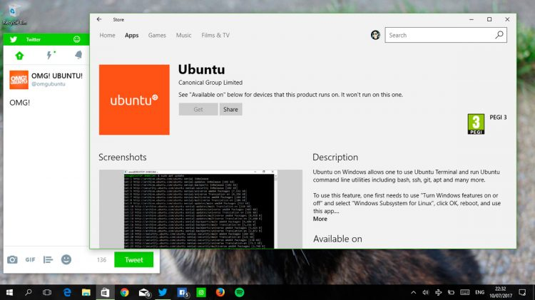 Ubuntu on the Windows Store