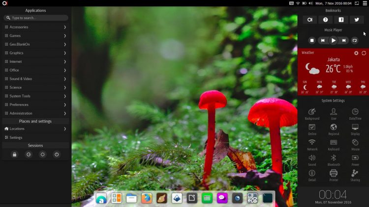 Manokwari desktop shell for GNOME