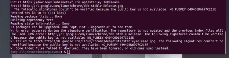 Ubuntu: Fix Google GPG Error | Born's Tech and Windows World