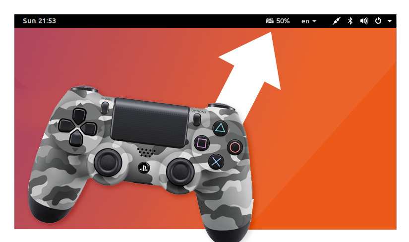 PS4 Controller Battery Level Extension for the GNOME Desktop - OMG