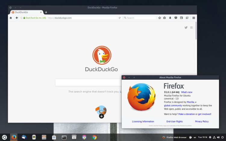 firefox 55 on ubuntu 17.04