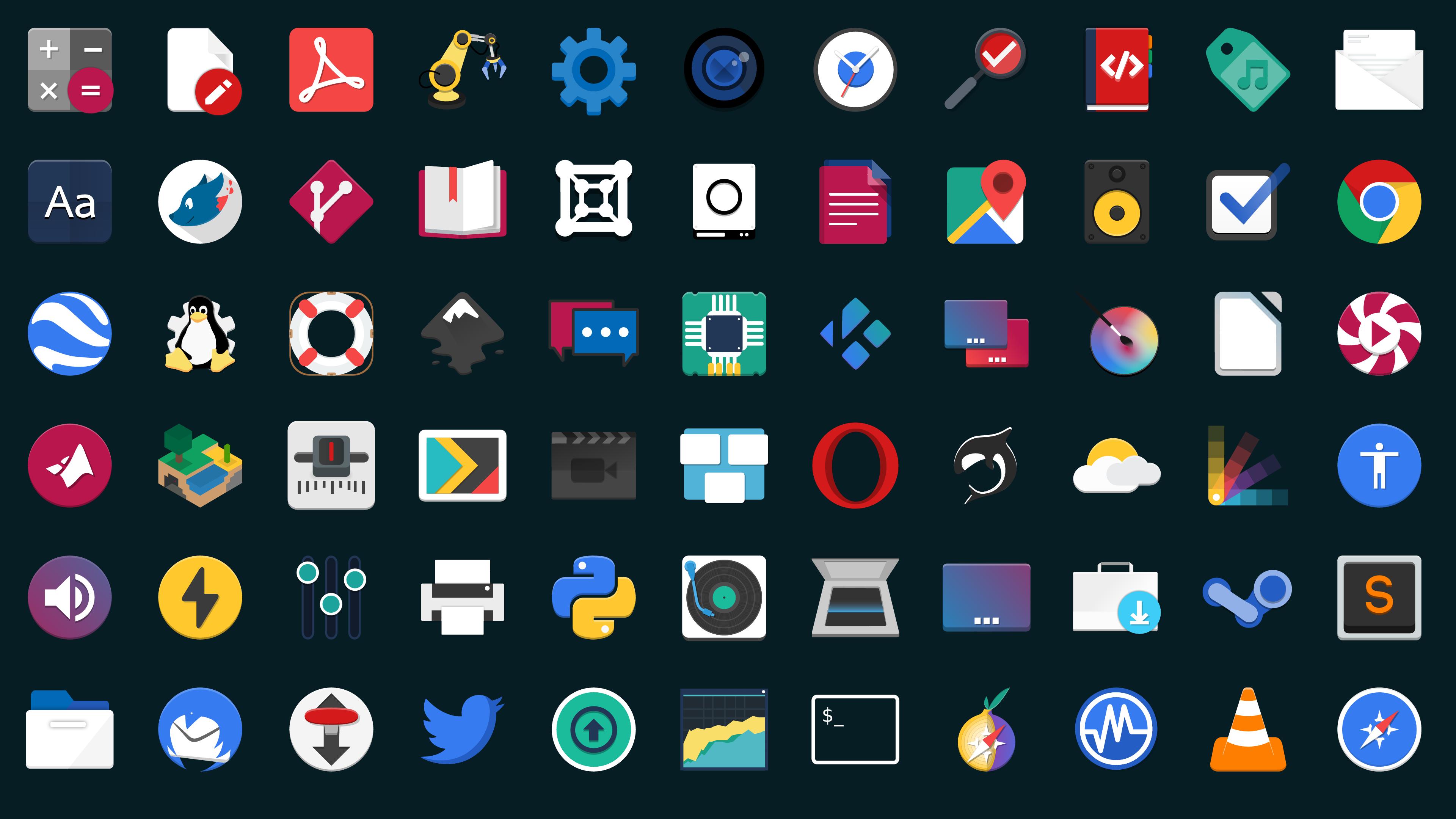 Flat Remix Icon Theme for Linux - OMG! Ubuntu!