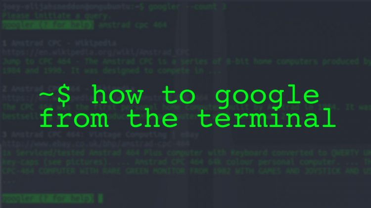 google from the terminal
