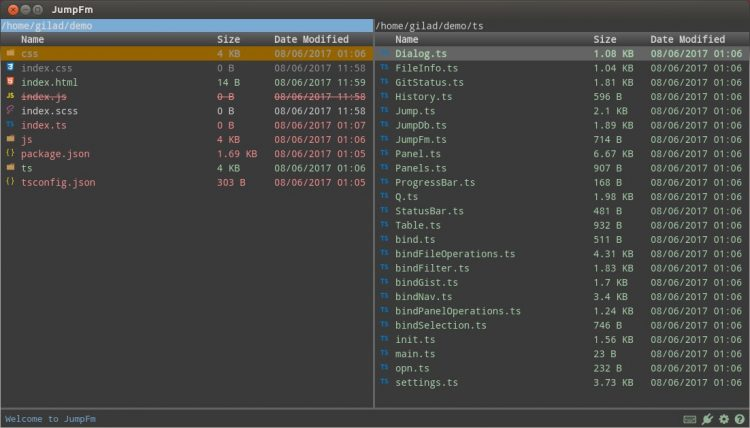 jumpfm is an electron file manager for linux