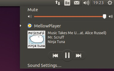 mellowplayer unity sound menu