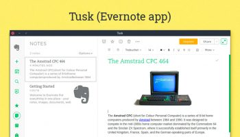 tusk evernote client