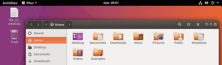 trash icon ubuntu desktop