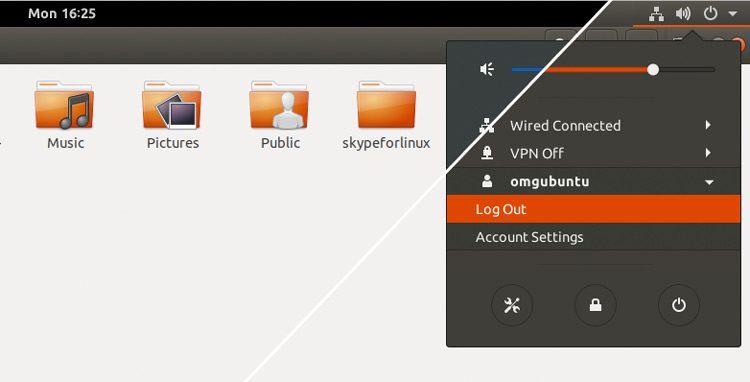 Ubuntu 17.10 GNOME Shell theme: split view
