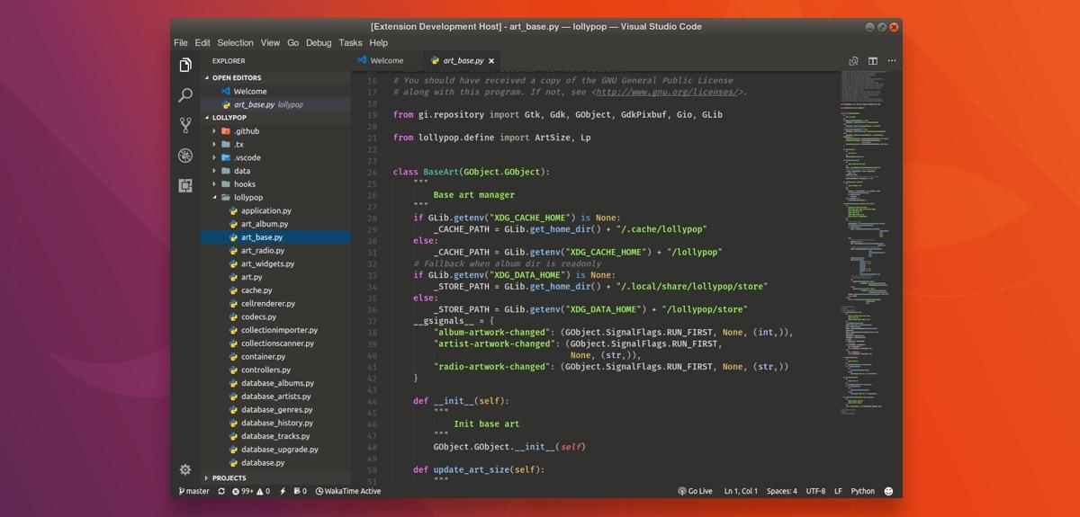 Es simple hacer que el código de Visual Studio coincida con tu tema de Gtk
