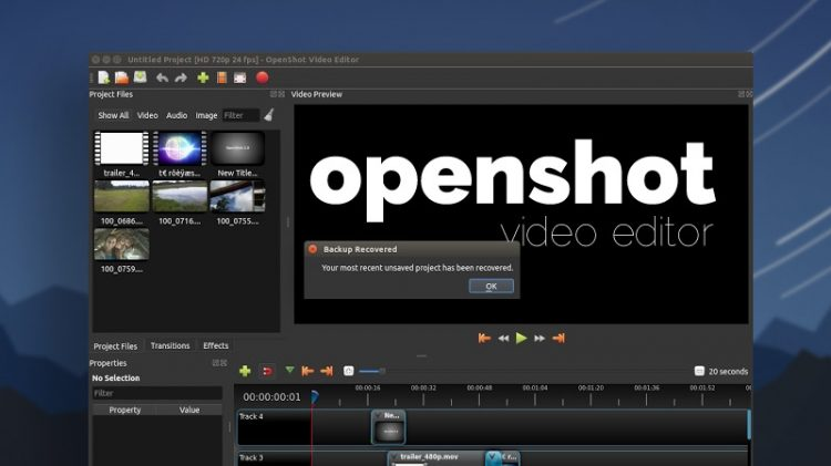 openshot video editor on ubuntu desktop