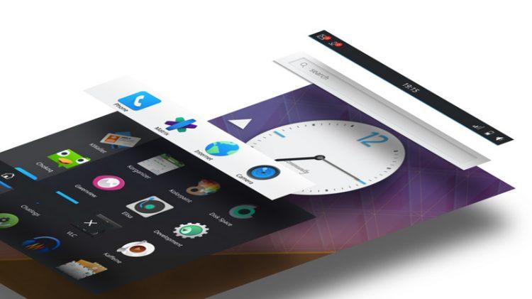 plasma mobile UI layers
