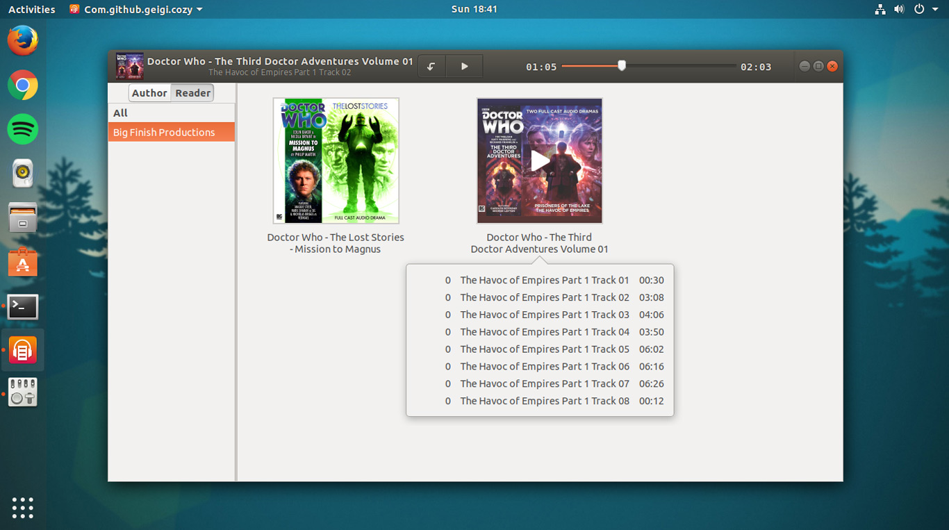 Linux Audiobook Player 'Cozy' Adds Sleep Timer, m4a Support