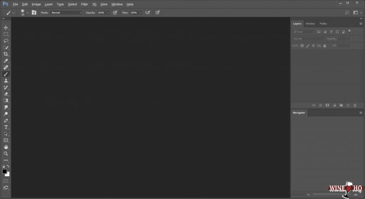 Photoshop CC 2015 on Linux via Wine HQ