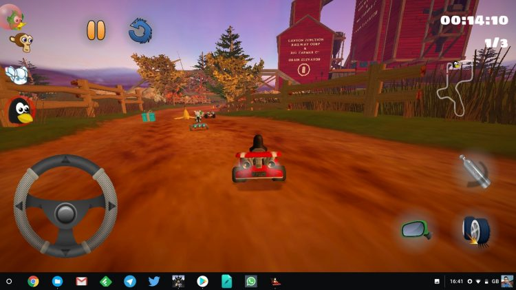 SuperTuxKart Android on a Chromebook