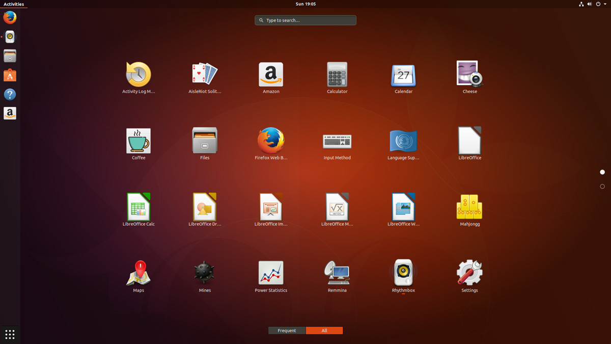 Ubuntu 17.10 Review: Applications Screen