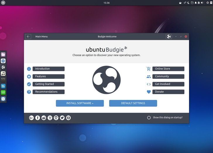Ubuntu Budgie 17.10 desktop screenshot