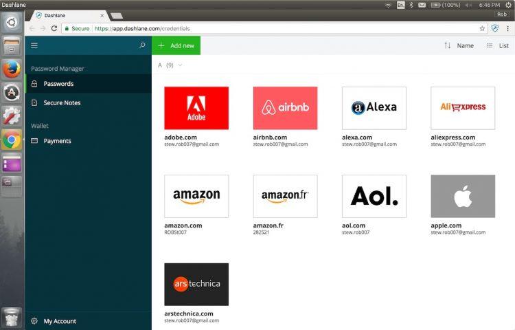 dashlane linux web app