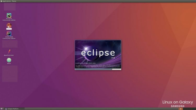 linux on galaxy - the ubuntu desktop and eclipse