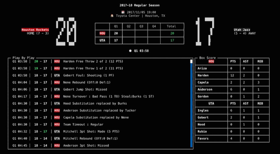 NBA Go NPM terminal app