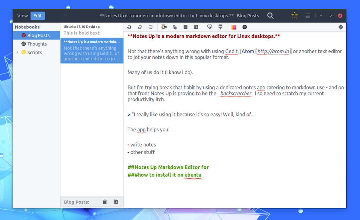 Notes Up is a Markdown Editor for Linux - OMG! Ubuntu!