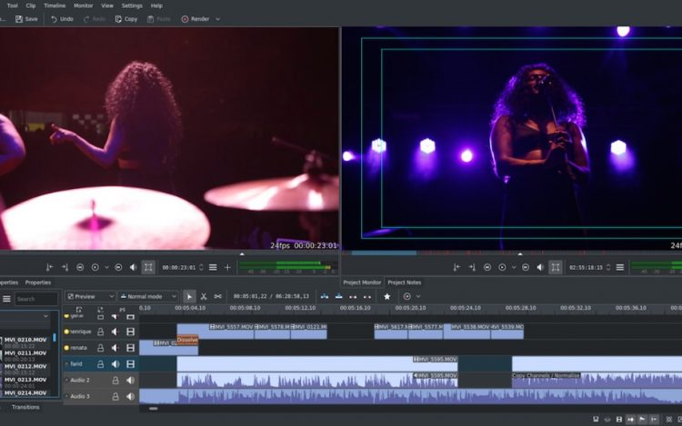 the kdenlive video editor