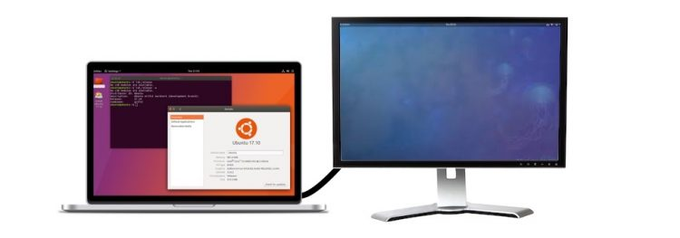 different wallpaper on monitor on ubuntu desktop 2